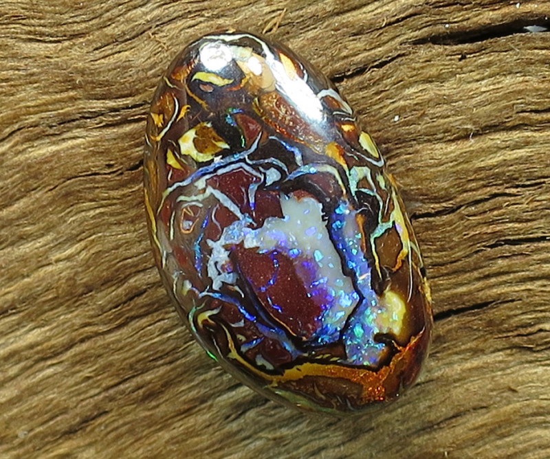 8cts. *YOWAH NUT OPAL~SIDE DRILLED*