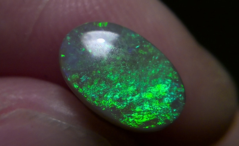 Sunshine ocean !1.52 ct Super bright Lighting Ridge Solid dark opal