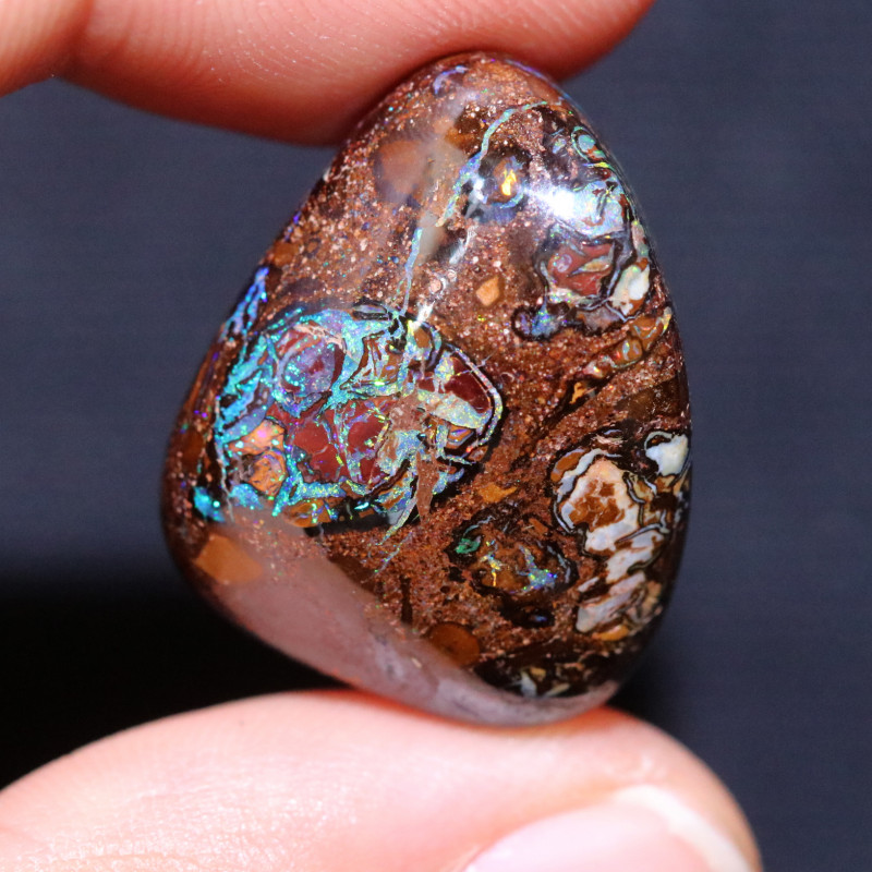 34.00 CTS YOWAH NUTS IN BISCUIT BAND.WELL POLISHED [FJP3905]