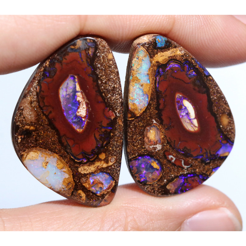 $28 EACH 68.00 CTS YOWAH NUTS IN BISCUIT BAND.WELL POLISHED [FJP3913]