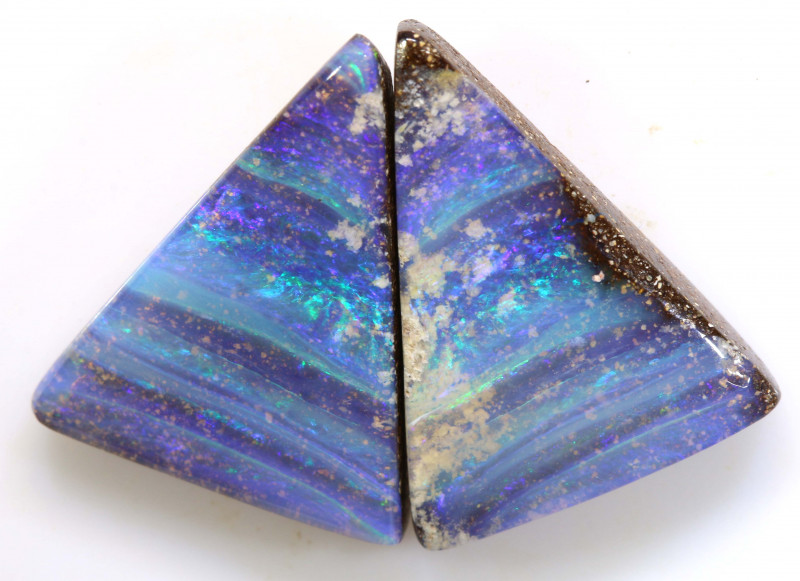 13.50CTS BOULDER OPAL PAIR TBO-A2047