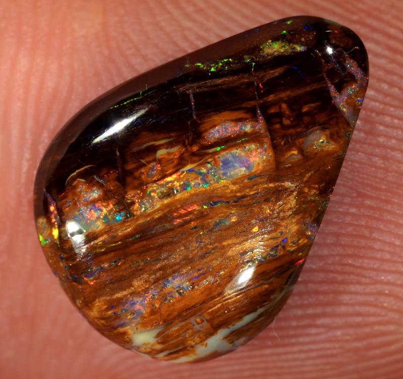 3.95ct 14.5x10.5mm Yowah Wood Fossil Boulder Opal [LOB-3551]