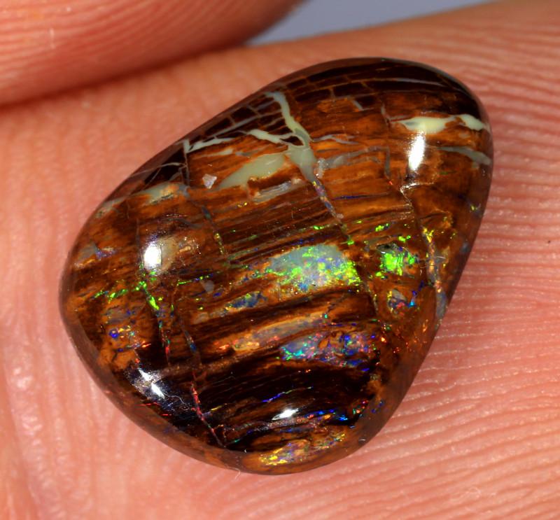 3.95ct 13.5x10mm Yowah Wood Fossil Boulder Opal [LOB-3555]