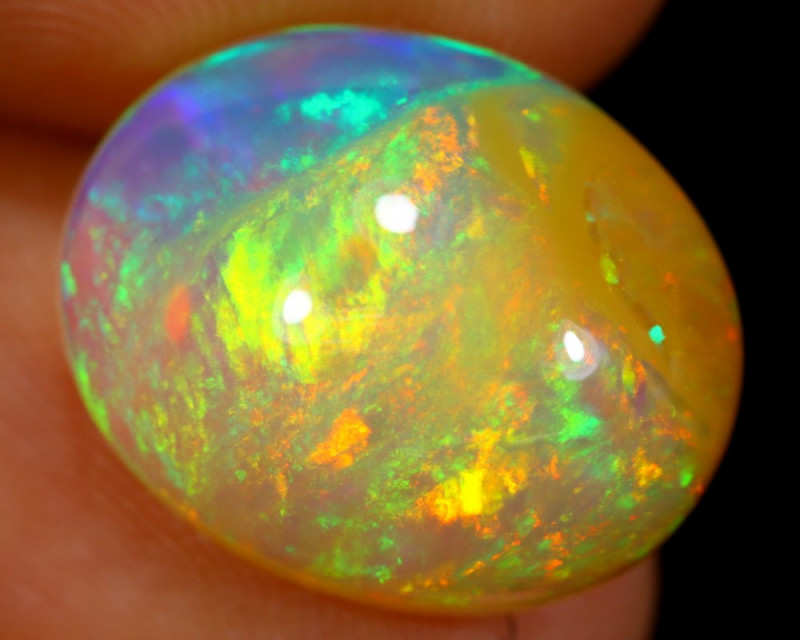 TOP 5.76cts Natural Ethiopian Welo Opal / BF3876