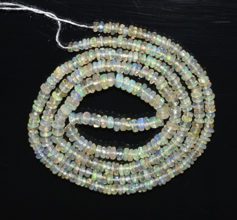 18.80 Ct Natural Ethiopian Welo Opal Beads Play Of Color OB15