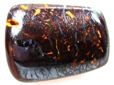 RED & GREEN FIRE IN VEINS KOROIT BOULDER OPAL 12.1CT GR 2577