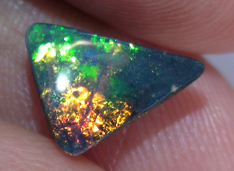 1.60 ct$1 NR Beautiful Gem Multi Color Natural Queensland Boulder Opal