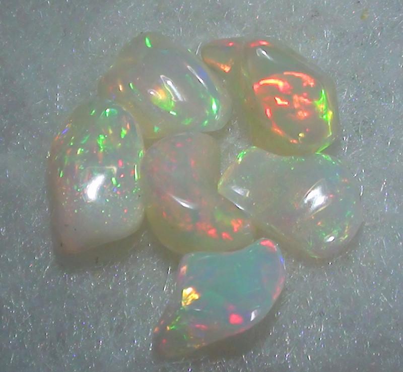 20.10 ct  Six Ethiopian Gem Color Free form Opal Parcel