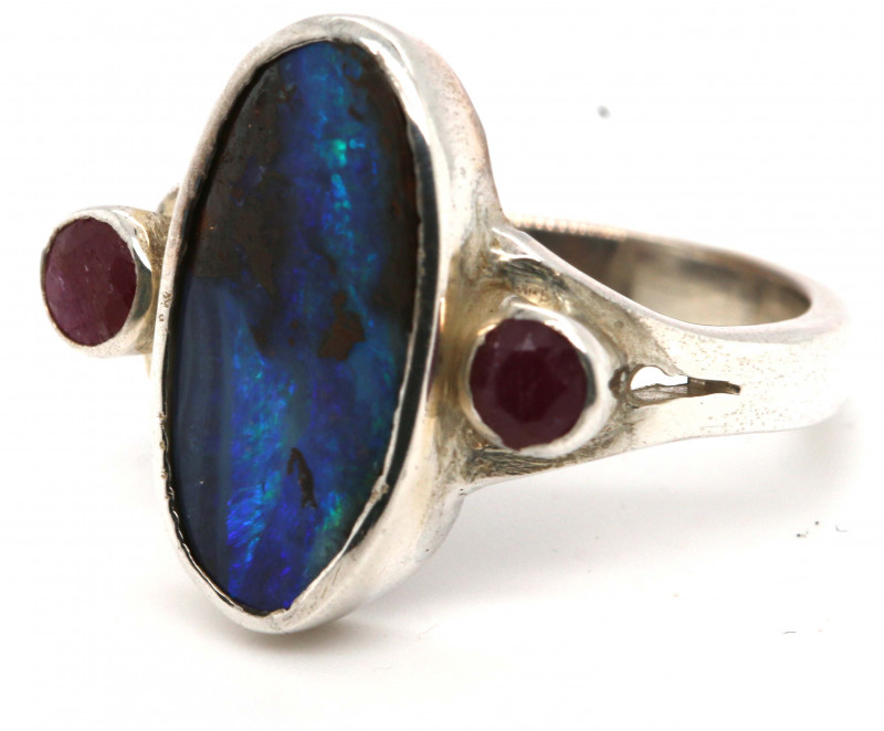 26.0 CTS BOULDER OPAL RING   OF-2760