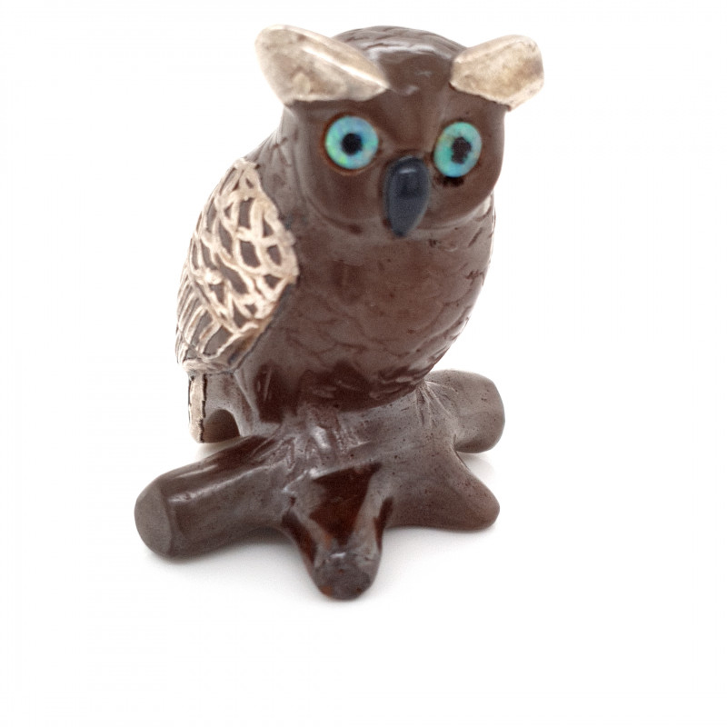 206.48 CTS OPAL ART - Opal Owl 40x34x25mm
