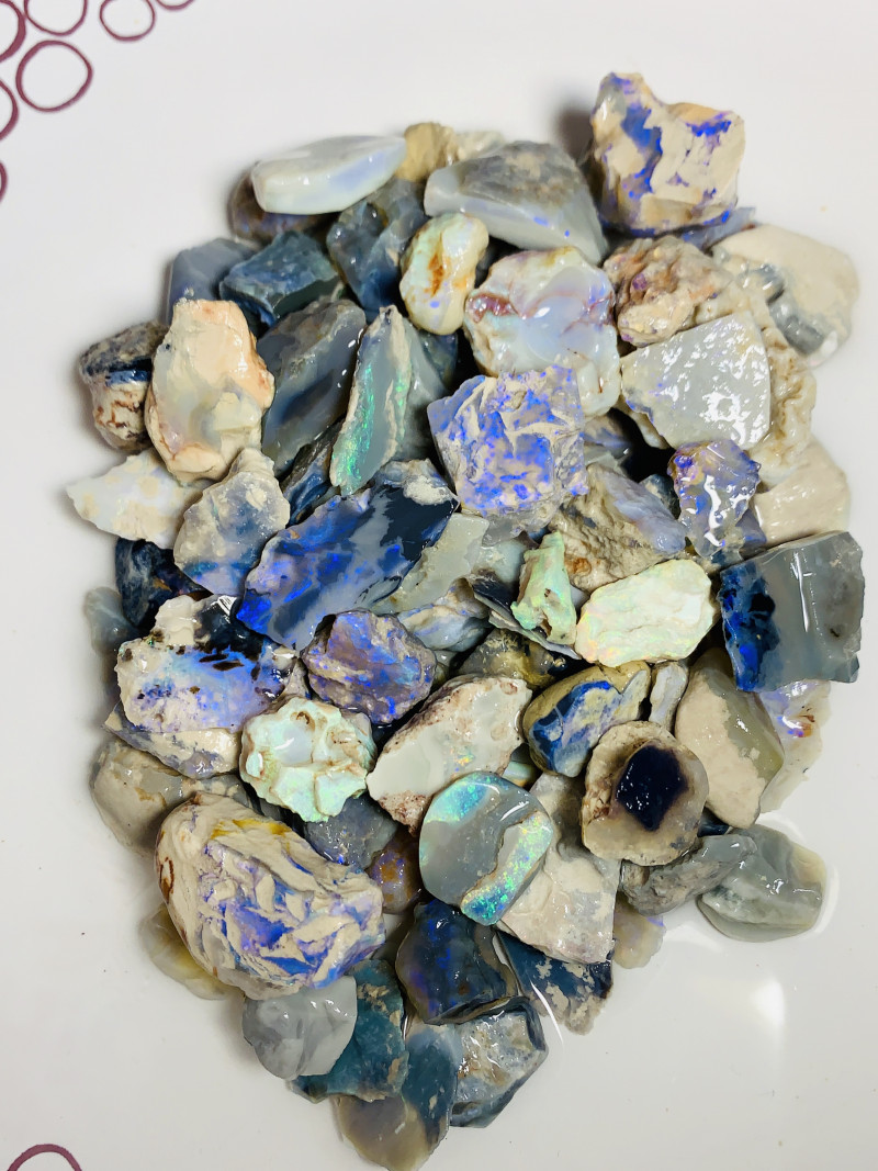 Big & Colourful Rough Dark Seam Opals With Potential - 1000 CTs#1862
