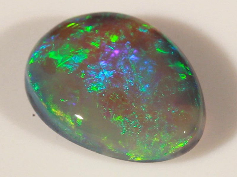 3.81ct BLACK OPAL LIGHTNING RIDGE