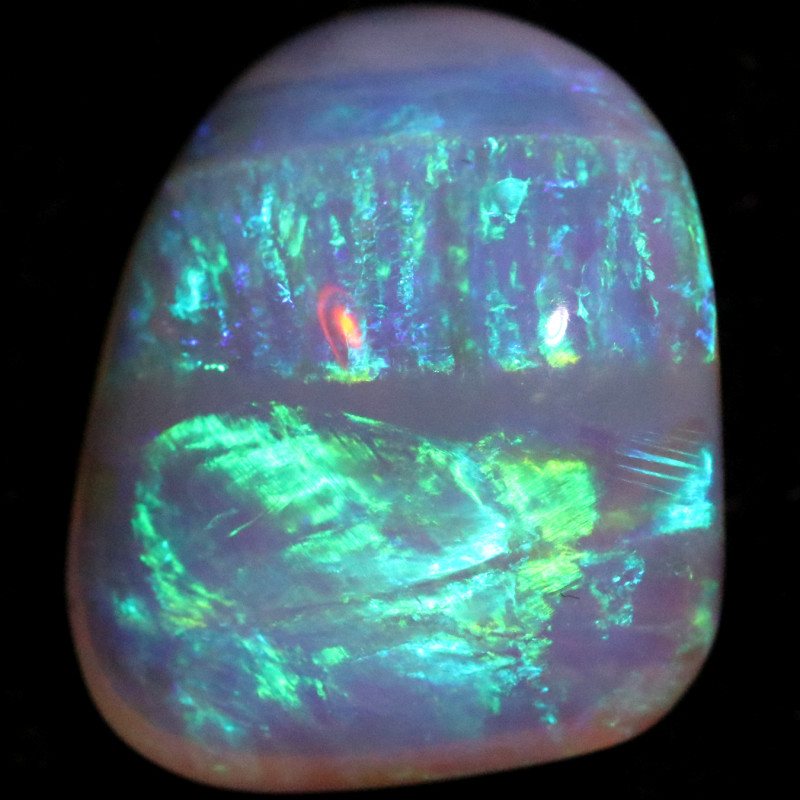 8.40 CTS COOBER PEDY CRYSTAL OPAL STONE [LRO1598]
