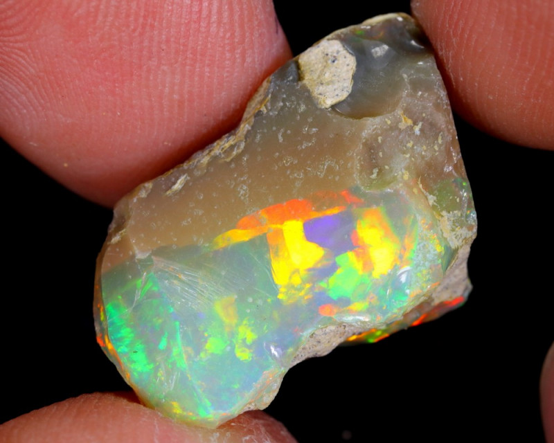 11cts Natural Ethiopian Welo Rough Opal / WR4781