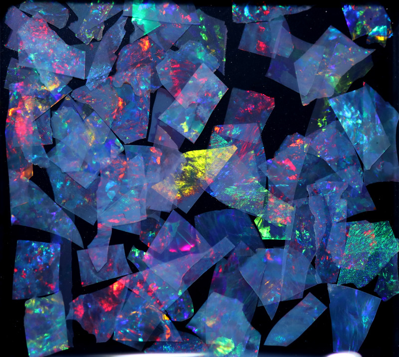 2.00 CTS  GEM THIN CRYSTAL SLICES PARCEL .IDEAL MOSAIC -[MS8038]