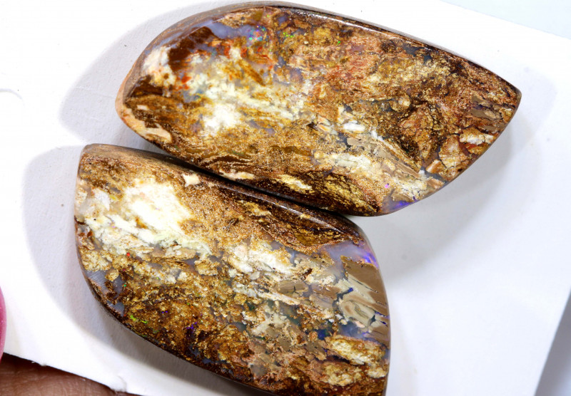 24.88 CTS  YOWAH WOOD REPLACEMENT OPAL PAIR   RO-210