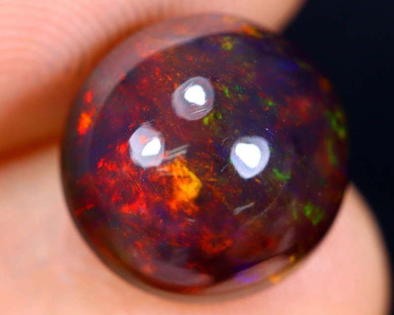 3.10cts Natural Ethiopian Welo Smoked Opal / HM1256