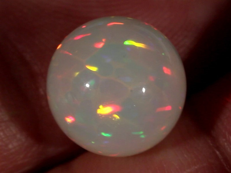 8.36CT~STUNNING ETHIOPIAN WELO OPAL SPHERE~INSANE FULL SATURATION OF FIRE!