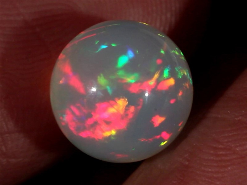 6.70CT~STUNNING ETHIOPIAN WELO OPAL SPHERE~INSANE FULL SATURATION OF FIRE!