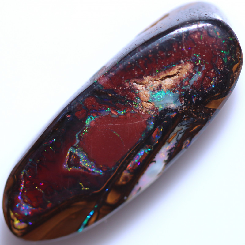 63.00 CTS DRILLED BOULDER OPAL FROM KOROIT [BMB524]