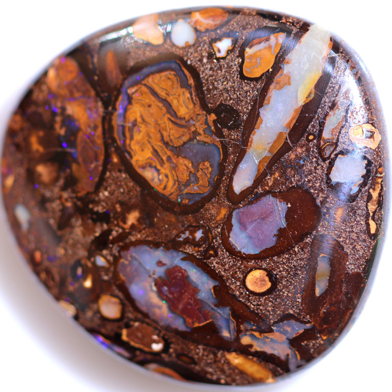 79.00 CTS YOWAH NUTS IN SANDSTONE WELL POLISHED [FJP4023]