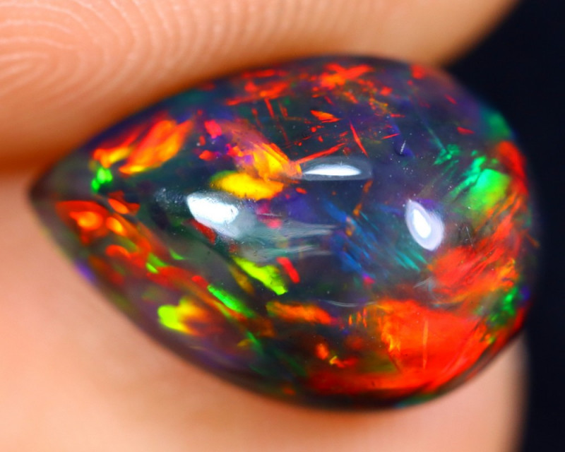 2.87cts Natural Ethiopian Welo Smoked Opal / HM1355