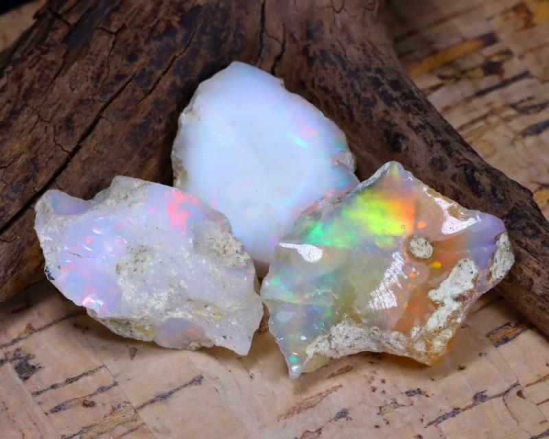 Welo Rough 37.65Ct Natural Ethiopian Play Of Color Rough Opal E1906
