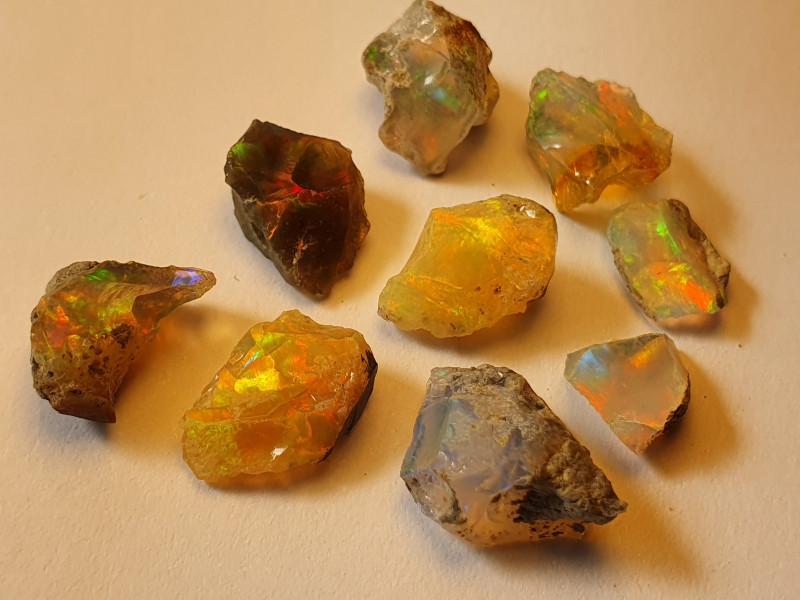 13.92ct lot Cutting Rough Noobie Welo Opal