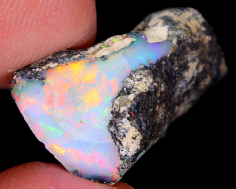 12cts Natural Ethiopian Welo Rough Opal / WR5450