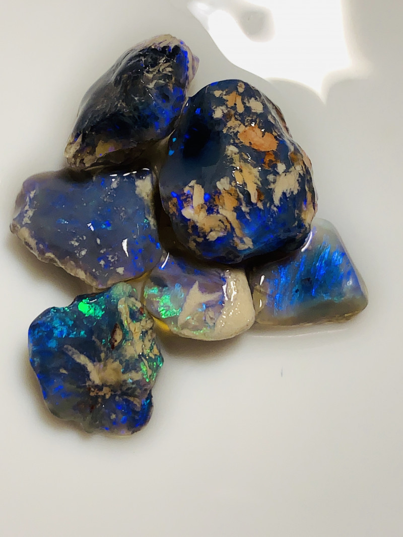 Black Nobby- Bright Cutters Grade Rough Nobby Opals#2187