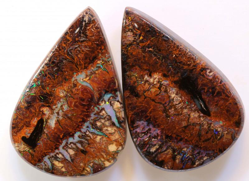 64.90 cts Australian Yowah Opal Pair DO-1206