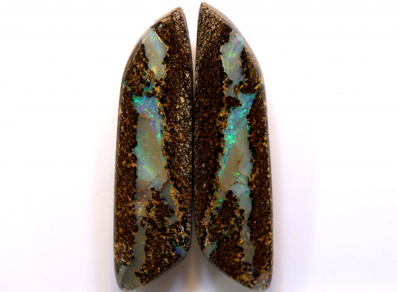35.90 CTS   BOULDER  PIPE OPAL PAIR   DO-1208