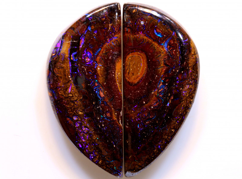 71.80 cts Australian Yowah Opal Pair DO-1229