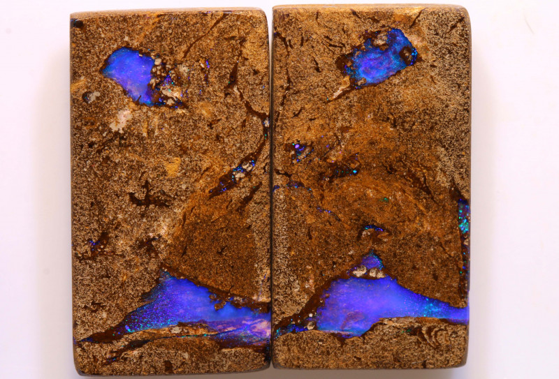 41.50 CTS   BOULDER  OPAL WOOD FOSSIL PAIR   DO-1233