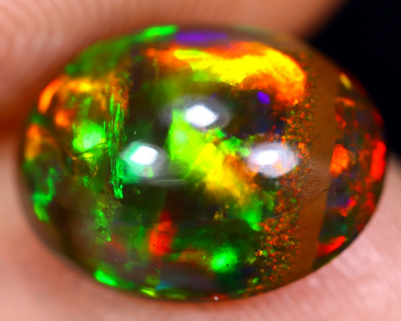 2.24cts Natural Ethiopian Welo Smoked Opal / HM1487