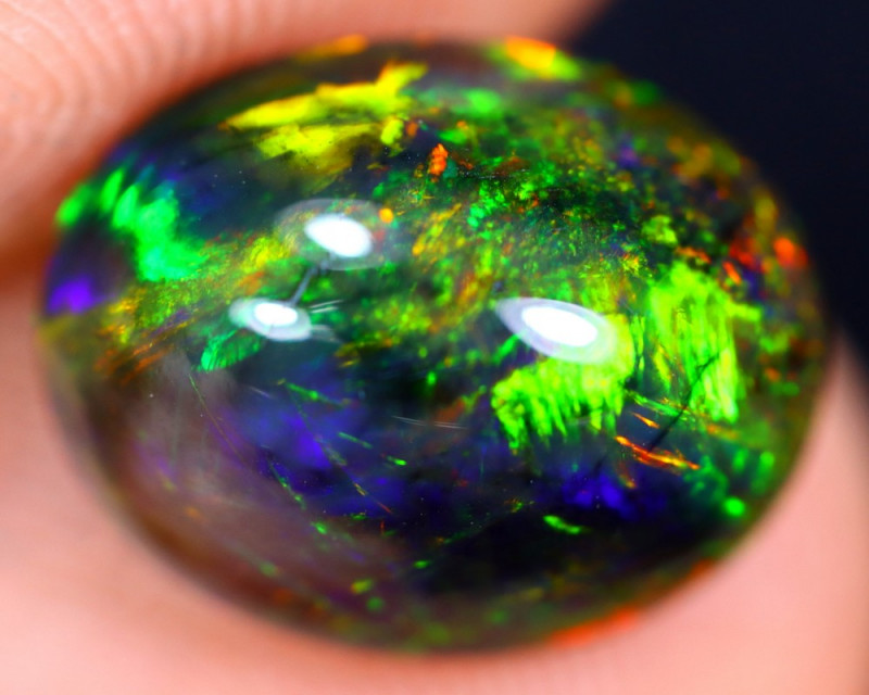 2.42cts Natural Ethiopian Welo Smoked Opal / HM1506