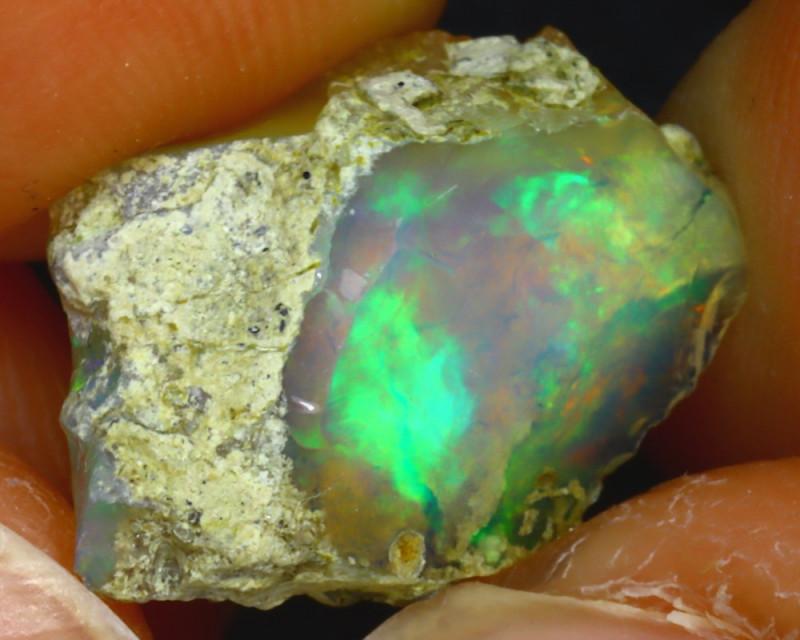 7.14Ct Multi Color Play Ethiopian Welo Opal Rough H0913/R2