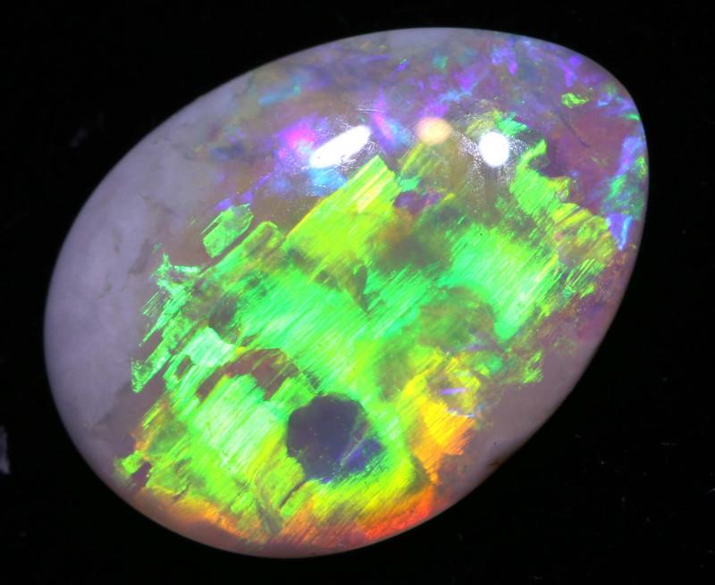 0.85 cts  DARK  Opal Lightning Ridge Cut Stone DO-1353