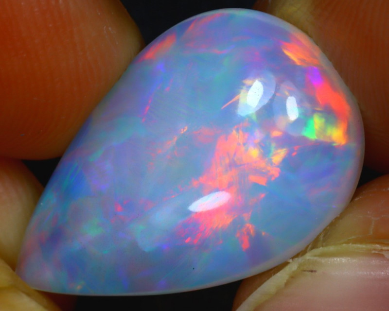 Welo Opal 9.40Ct Natural Ethiopian Play of Color Opal HR66/A57