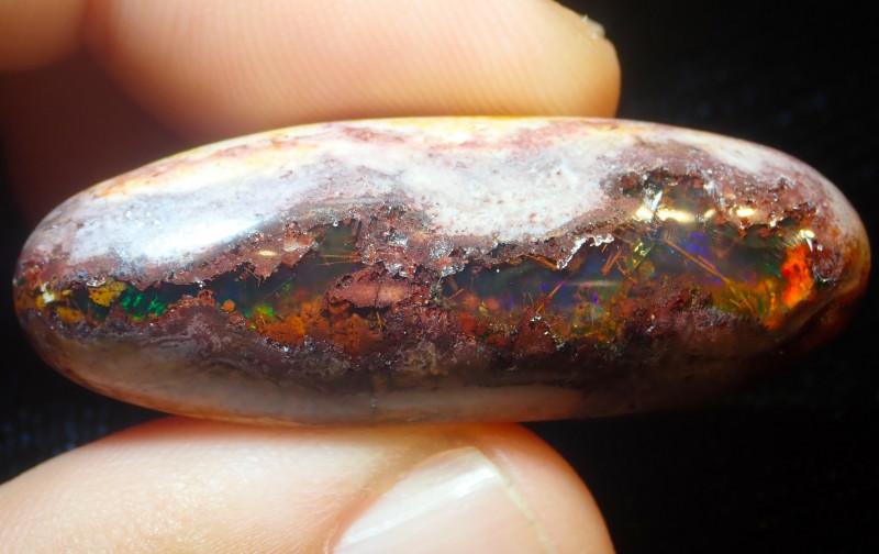 38.72ct Mexican Matrix Cantera Multicoloured Fire Opal