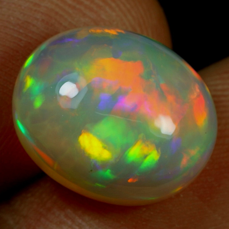 7.40cts BRUSH NEON FIRE Natural Ethiopian Welo Opal