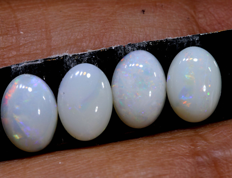 no reserve-1.8CTS  7X5  CALIBRATED WHITEOPAL  LO-6355-lightningopals inc