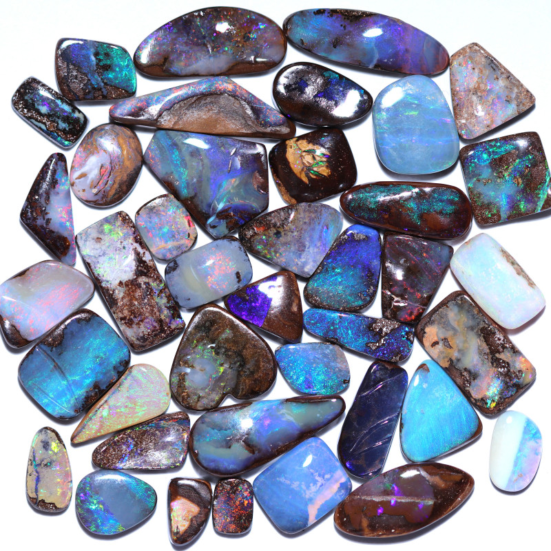 40 STONES BOULDER OPAL PARCEL FROM WINTON - WELL POLISHED [FJP4303]