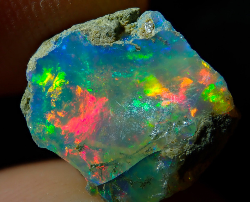 5.88ct A6 Cutting Rough Quality Solid Welo Opal Specimen