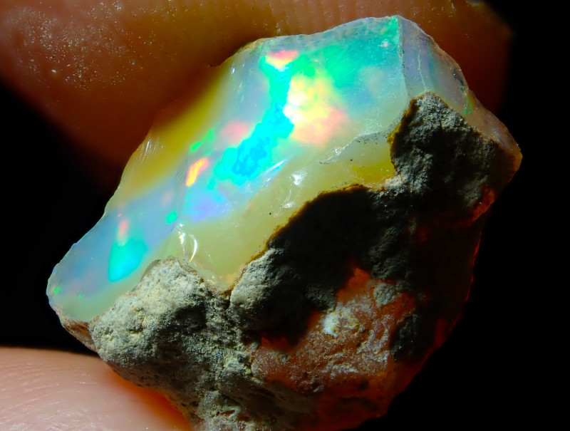 9.74ct A6 Cutting Rough Quality Solid Welo Opal
