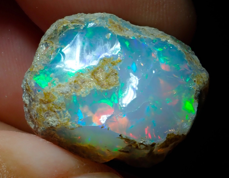 19.37ct A3 Cutting Rough Quality Solid Welo Opal