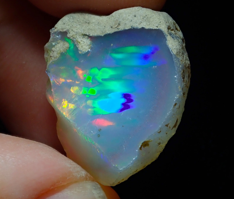 25.04ct A1 Cutting Rough Quality Solid Welo Opal
