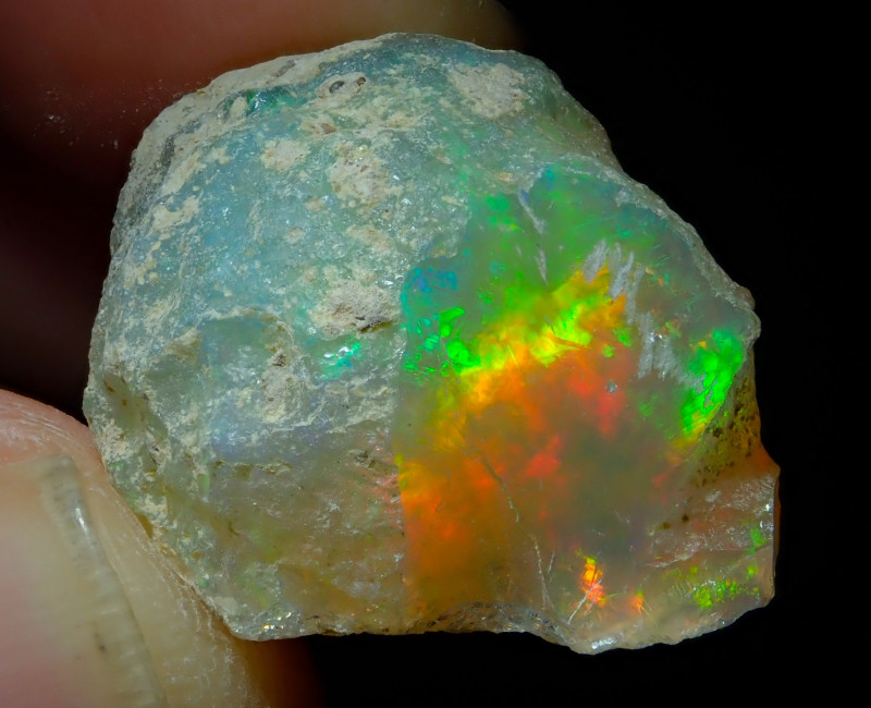 24.95ct A2 Cutting Rough Quality Solid Welo Opal