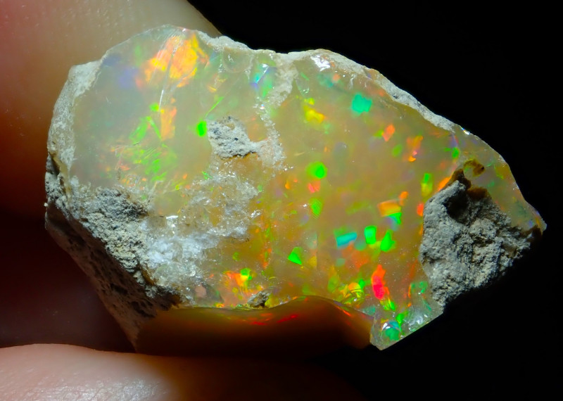 34.6ct A3 Cutting Rough Quality Solid Welo Opal