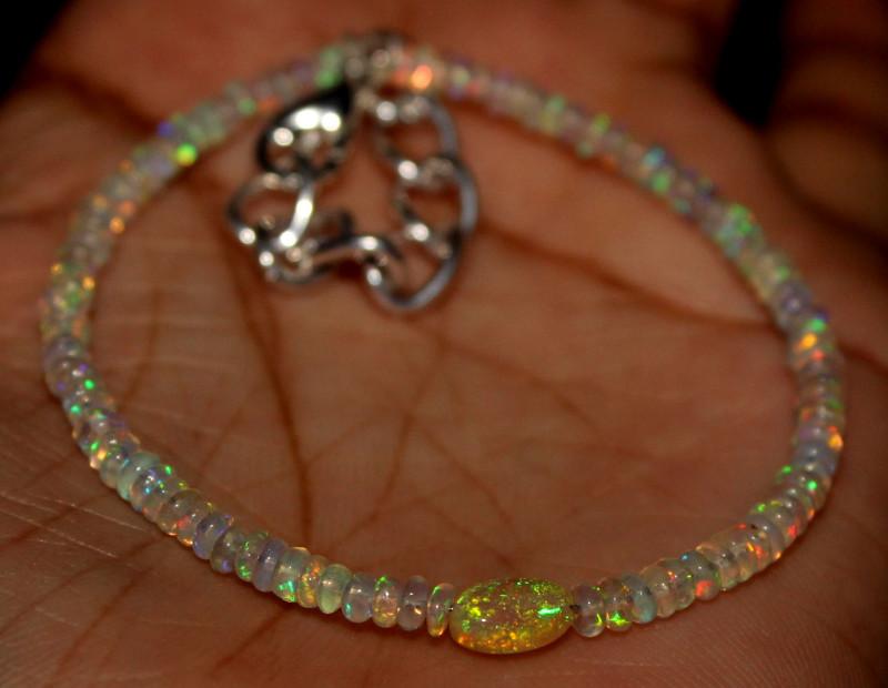 8 Crts Natural Ethiopian Welo Opal Bracelet